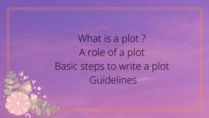 write a plot